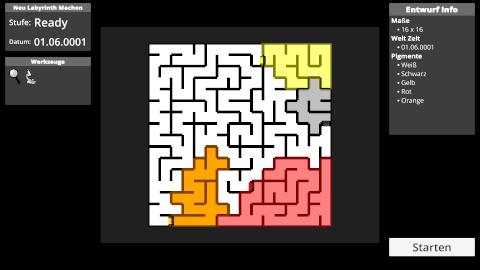 Prismatic Maze - Create New Maze (De)