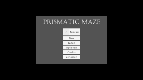 Prismatic Maze - Main Menu (De)