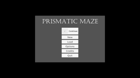 Prismatic Maze - Main Menu (En)