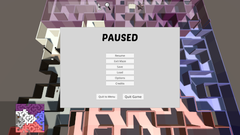Prismatic Maze - Pause Menu (En)