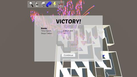 Prismatic Maze - Victory Menu