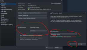 Configure Steam to use Beta Branches